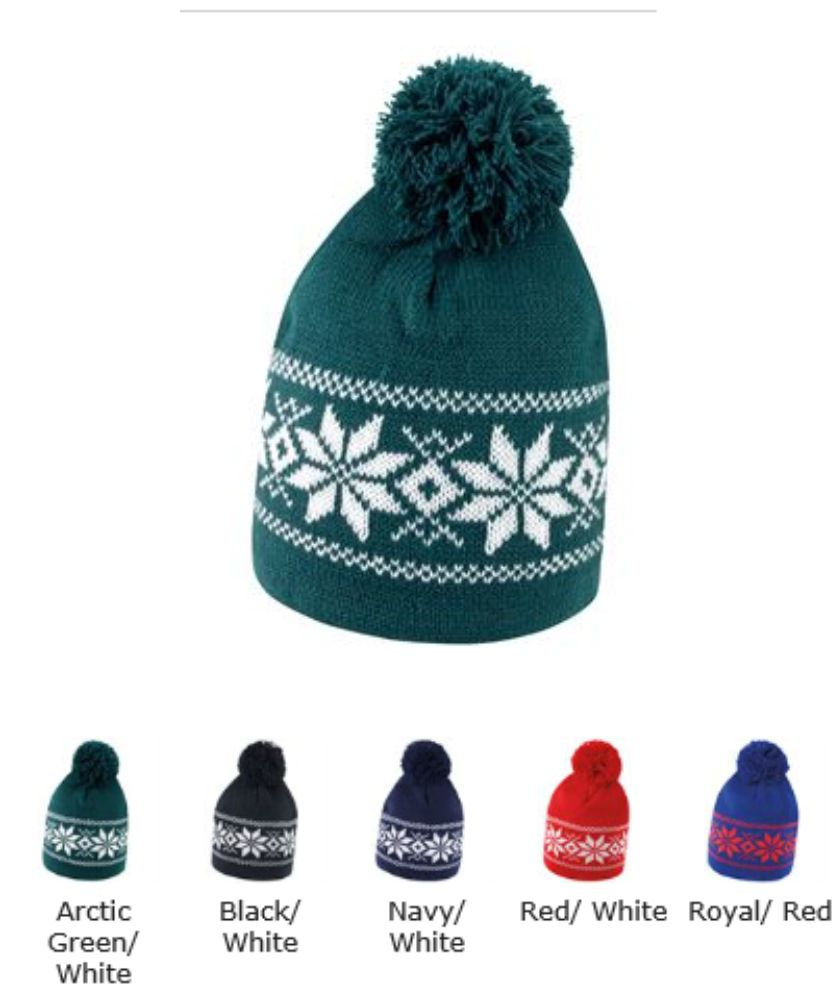 Result RS151 Fair Isles Knitted Hat