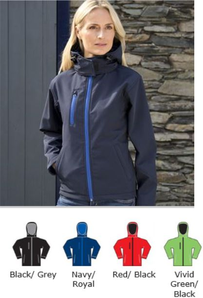 Result RS230F Ladies TX Performance Hooded Soft Shell Jacket