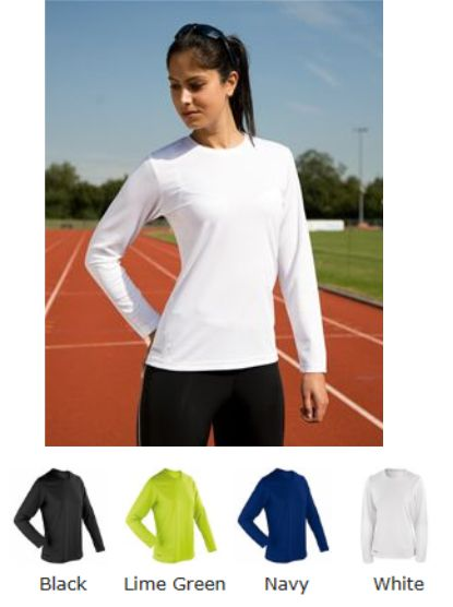Spiro SR254F Ladies Quick Dry Long Sleeve Tee Shirt