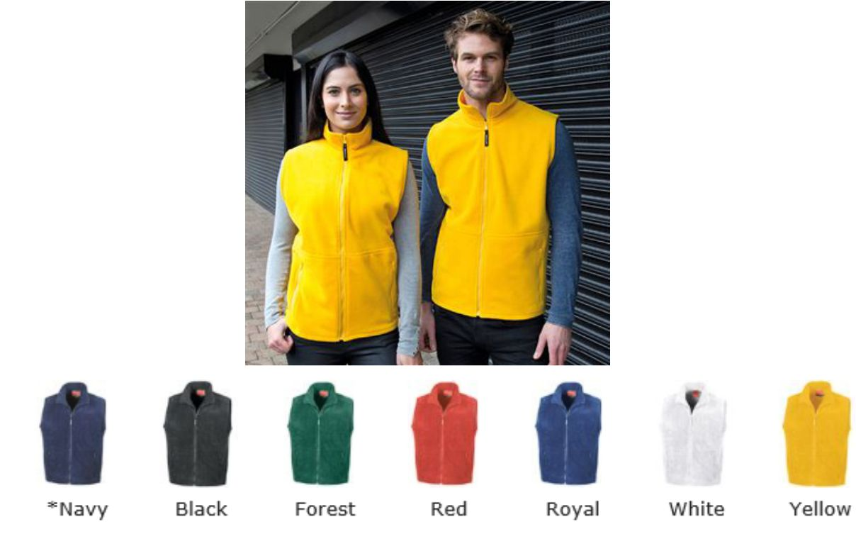 R37 Result fleece Gilet