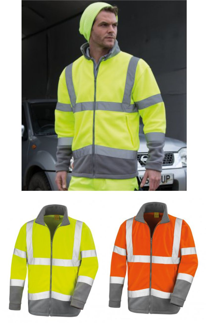 Result RS329 Hi Vis Micro Fleece Jacket