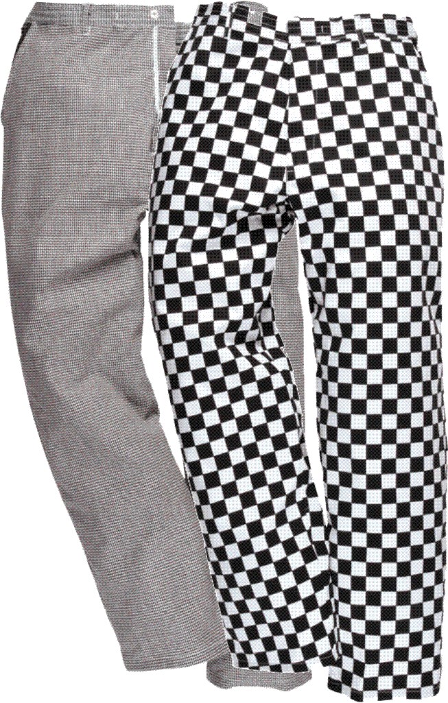 S068 Harrow part elastic waist chefs trousers