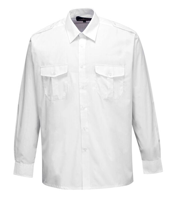 S102 Portwest Long Sleeve Pilot Shirt