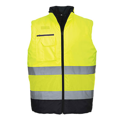 S267 Hi Vis Two Tone Bodywarmer