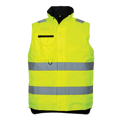 S269 Hi Vis Multi Pocket Body Warmer