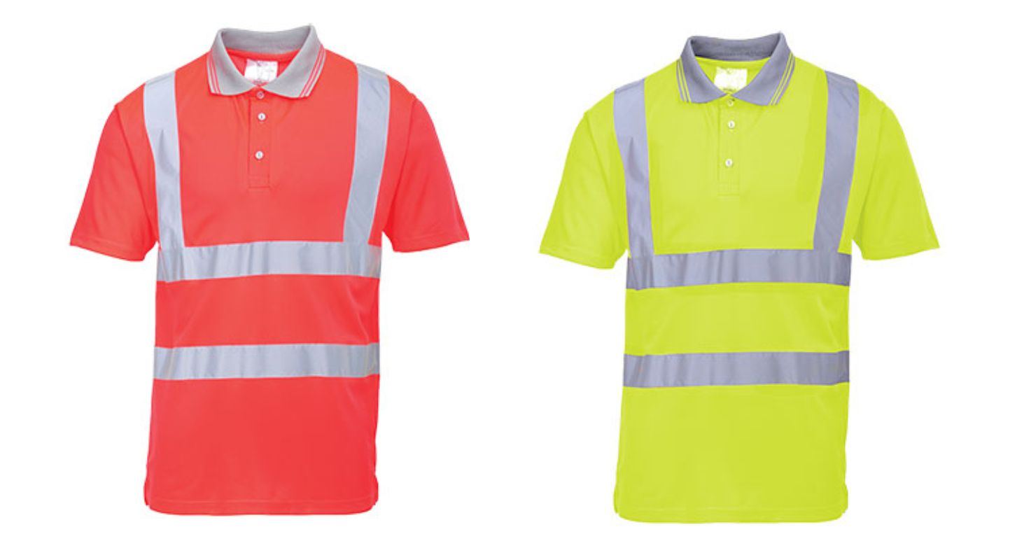 S477 Hi Vis polo shirt