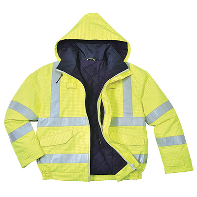 S773 Hi Vis Breathable Anti Static Fire Retardent Bomber jacket