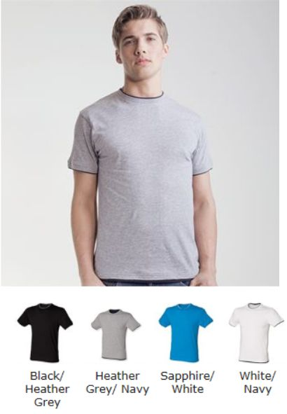 SF220 Skinnifitmen Layered Ringer T-Shirt