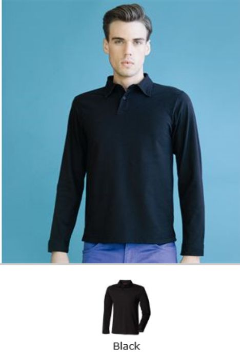 SFM44 SF Long Sleeve Polo Shirt