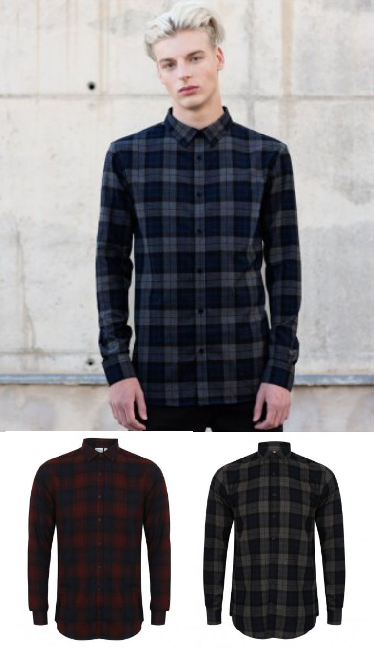 SF SF560 Brushed Check Casual Shirt