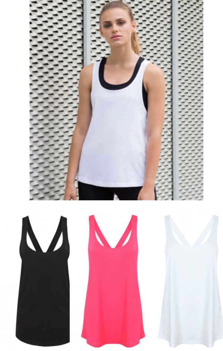 SF SK241 Ladies Fashion Workout Vest