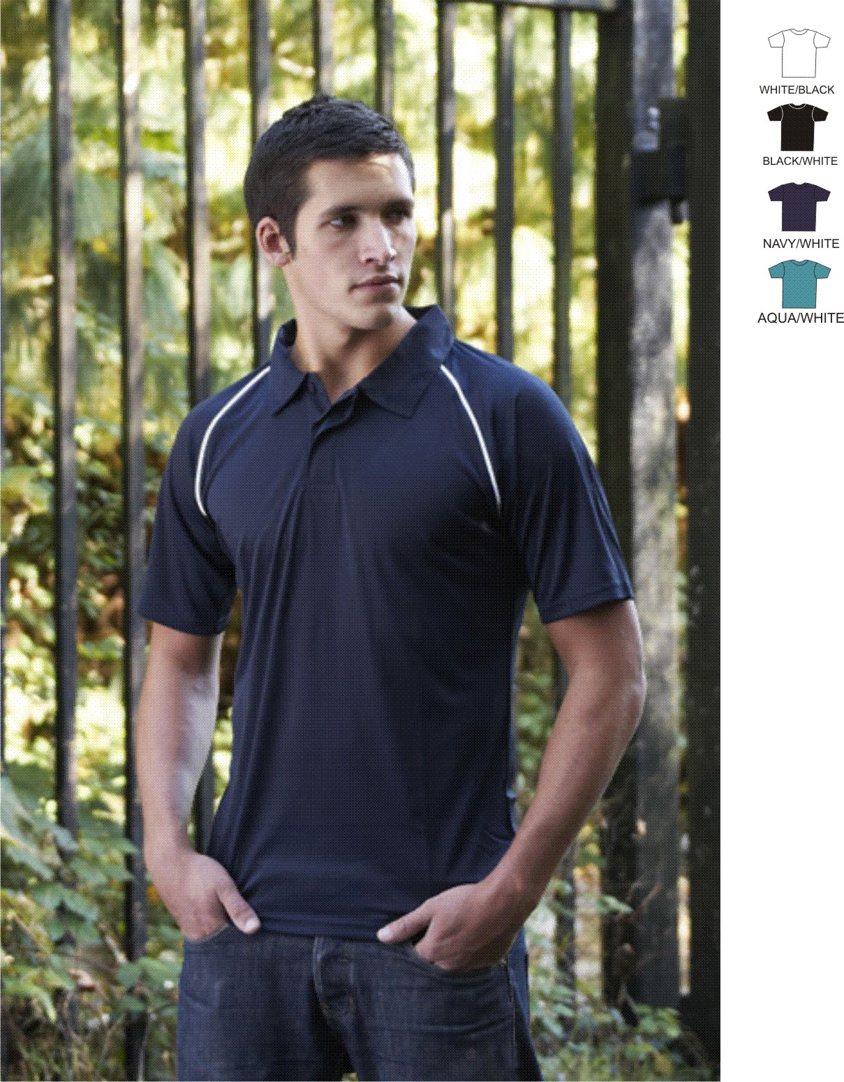 Slazenger SL29 Piping Cool Fit Polo