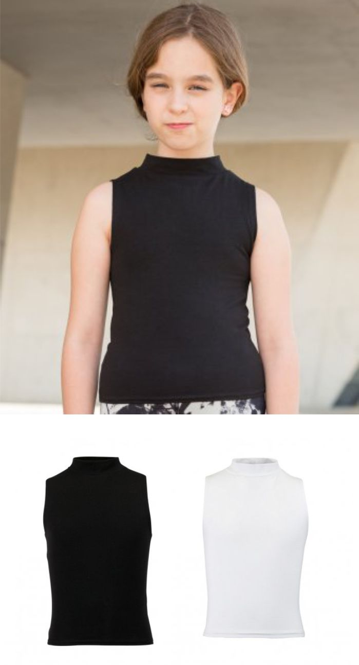 SM170 SF Kids High Neck Crop Vest