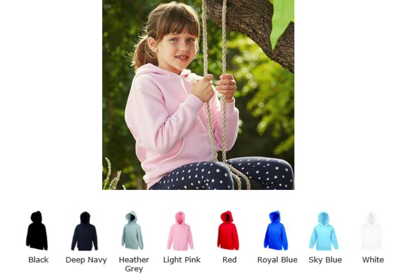 Fruit of the Loom SS106B Kid's Premium 70/30 Hooded Sweat