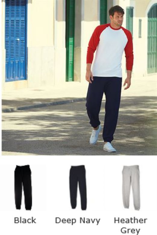 Fruit of the Loom SS114M Premium Elasticated Cuff Jog Pants