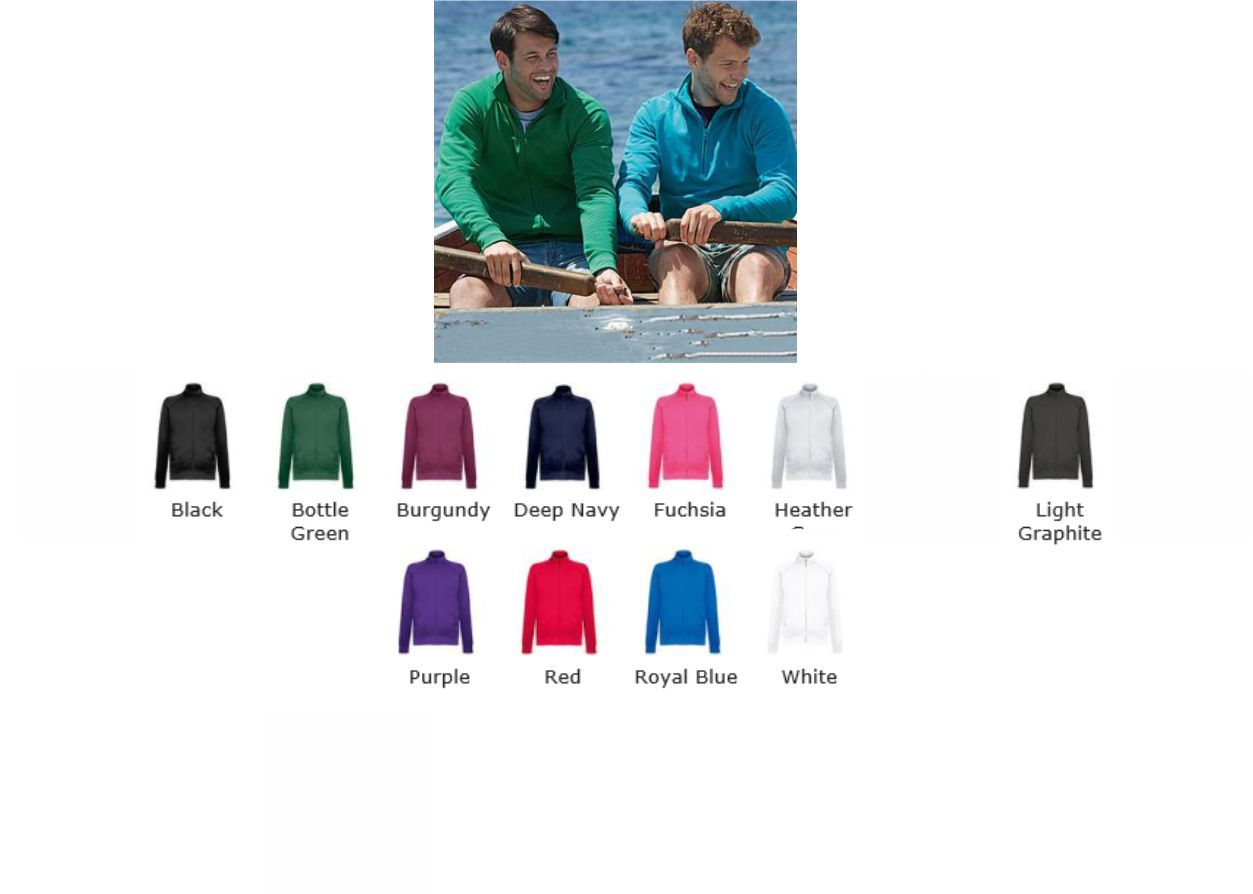 Fruit of the Loom SS127M Lightweight Sweat Jacket