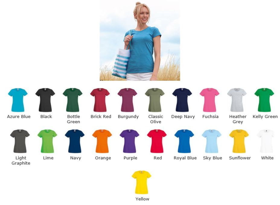 Fruit of the Loom SS129 Lady-fit Original Tee