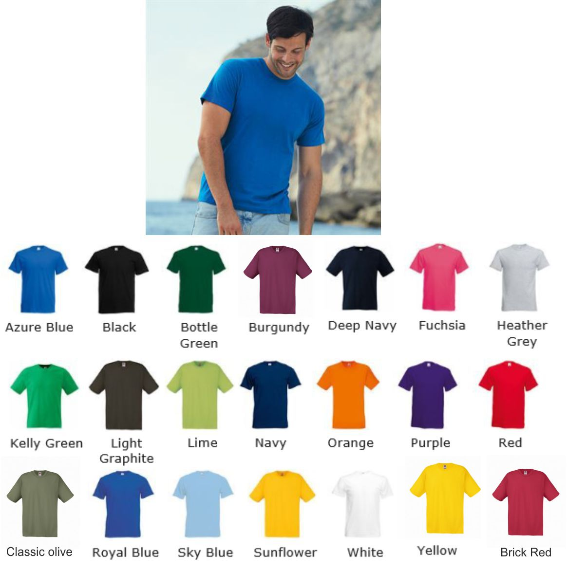 421553cd Standard Weight Tee Shirts : Ark Trading, Corporate Clothing ...
