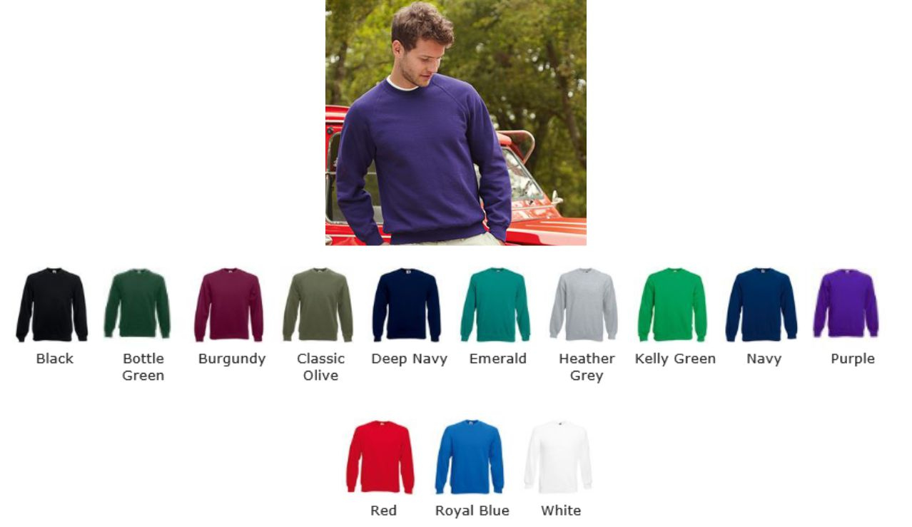 Fruit of the Loom SS24M 62216 Raglan Sweatshirt