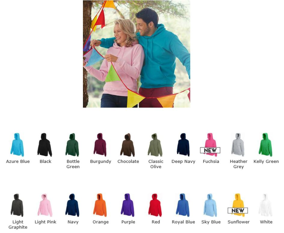 Fruit of the Loom SS26M Hood Top