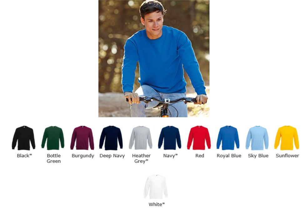 Fruit of the Loom SS27M Set In Sleeve sweatshirt