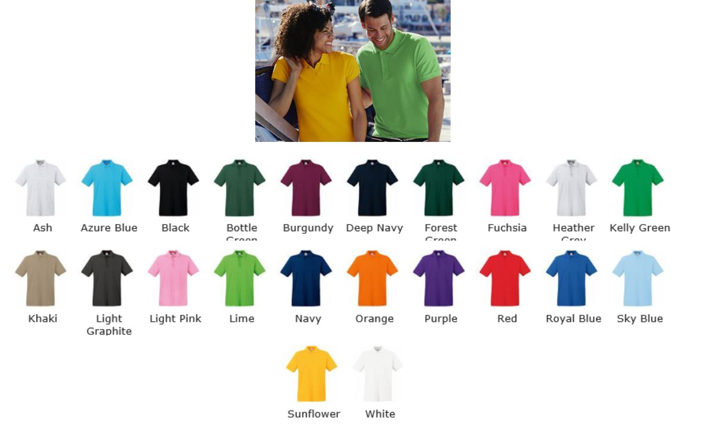 Fruit of the Loom SS35M Premium cotton polo