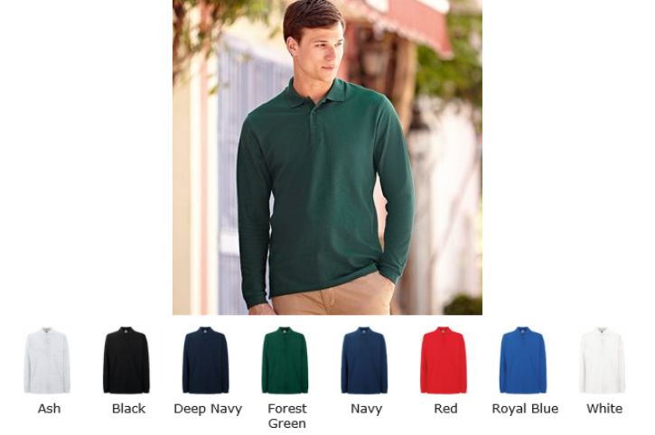 Fruit of the Loom SS37M Premium long sleeve polo