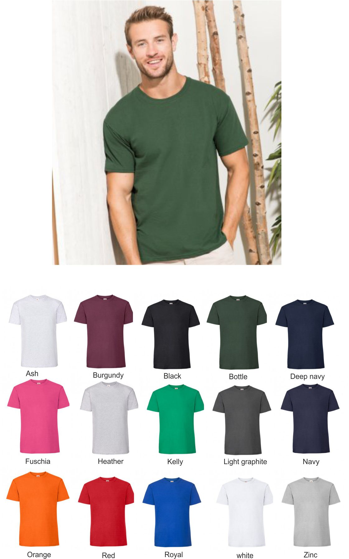 SS620 Fruit of the Loom Ringspun Premium T-Shirt