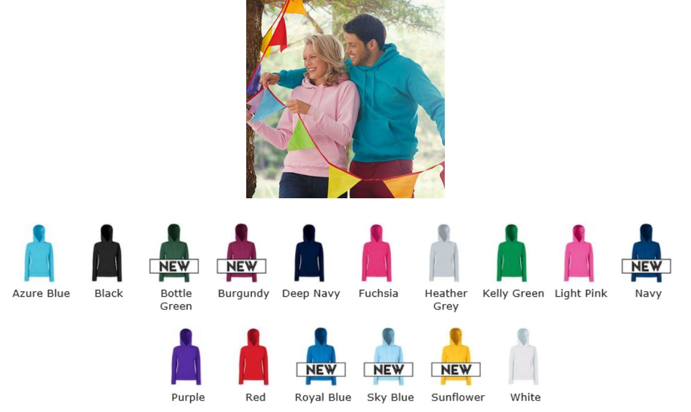 Fruit of the Loom SS68M Classic Lady Fit Hooded Sweat