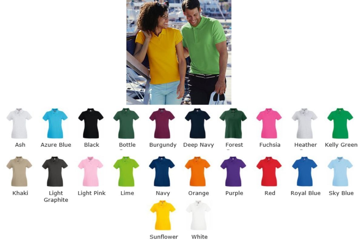 5004b2cb Fruit of the Loom SS78M Lady Fit Premium Polo - £9.69 : Ark Trading ...