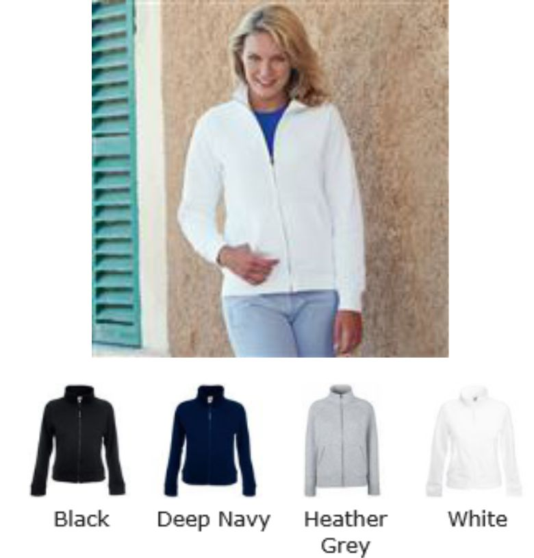 Fruit of the Loom SS85M Premium Lady Fit Sweat Jacket