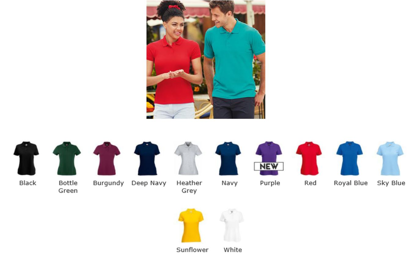 Fruit of the Loom SS92M Lady Fit poly/cotton polo