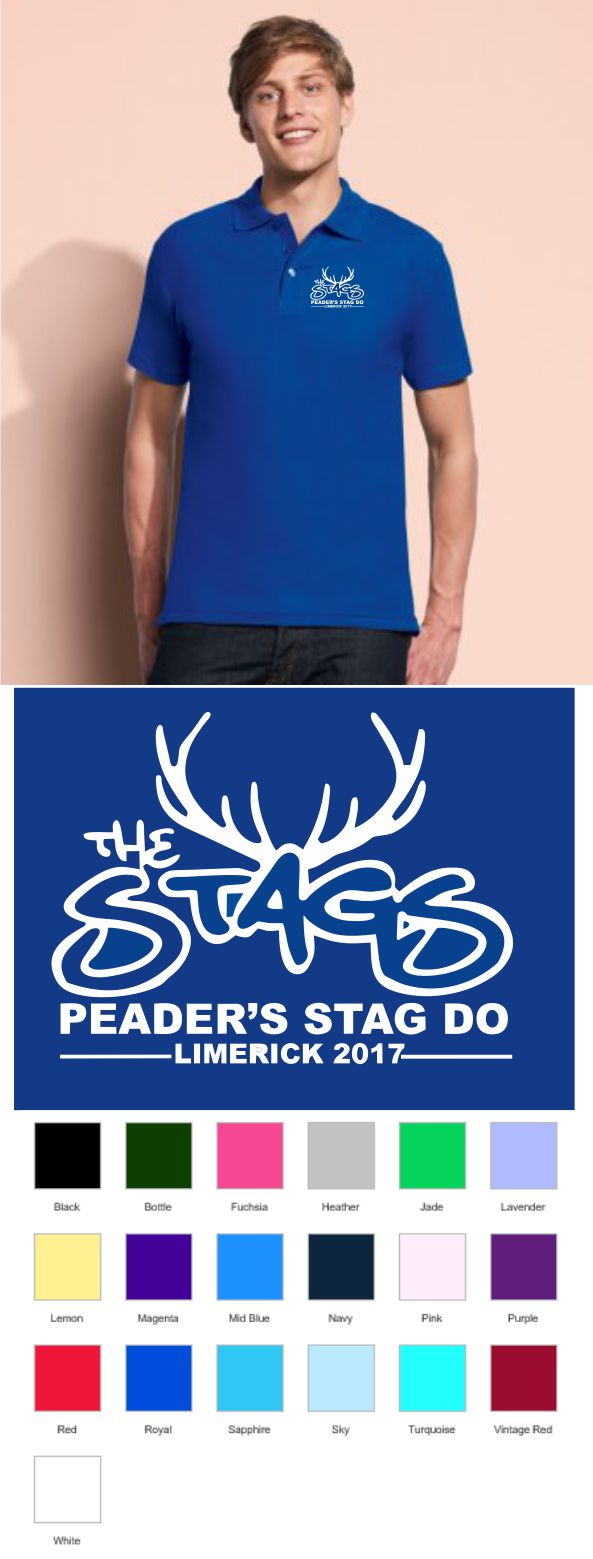 Stag Do Embroidered Polo shirt