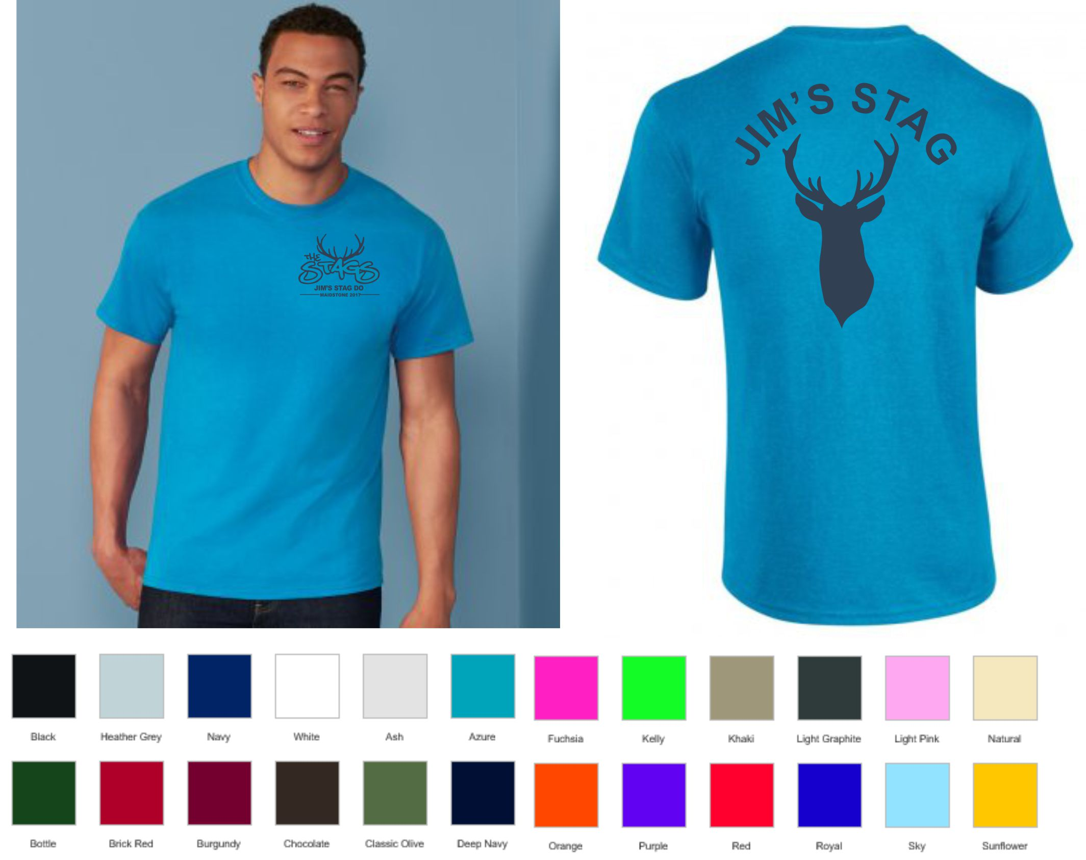 Stag Do Printed Tee Shirt