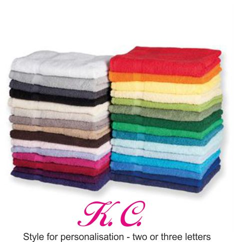 TC003 Luxury Hand Towel With Embroidered Monogram in one Corner
