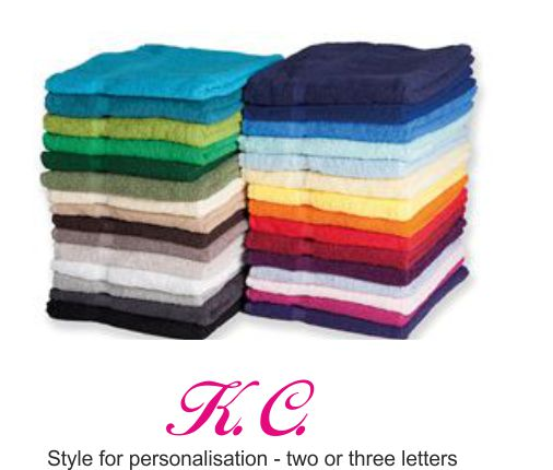 TC004 Luxury Bath Towel with Embroidered Monogram in one corner