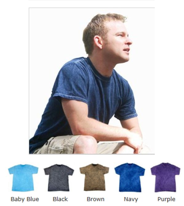 Colortone TD003M Mineral Wash Tee Shirt