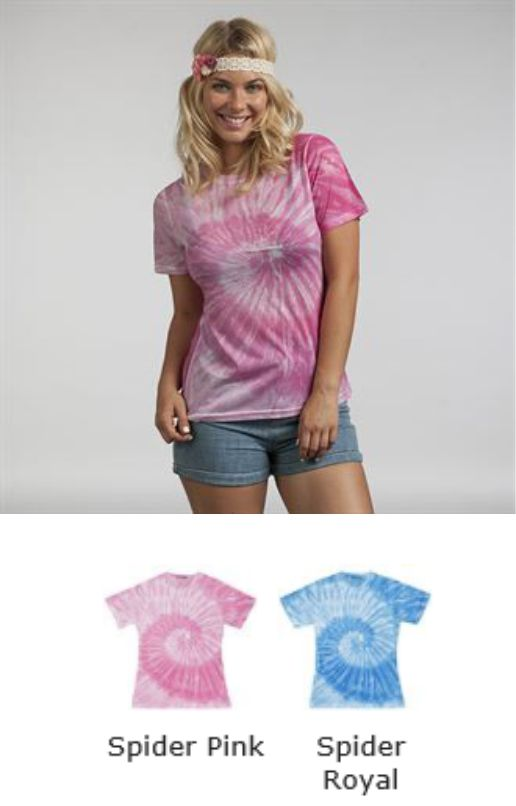 Colortone TD020M Ladies Sublimated Spider Tee