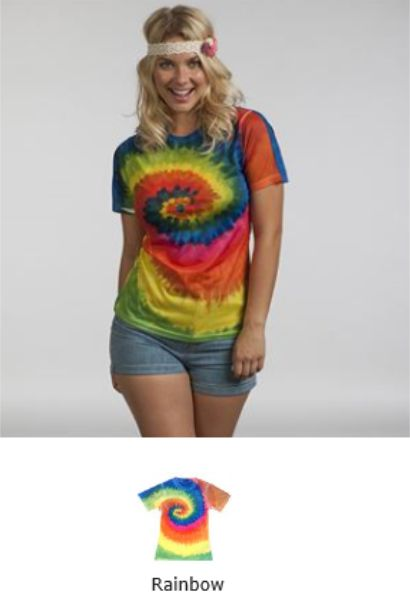 Colortone TD021M Ladies Rainbow Tee