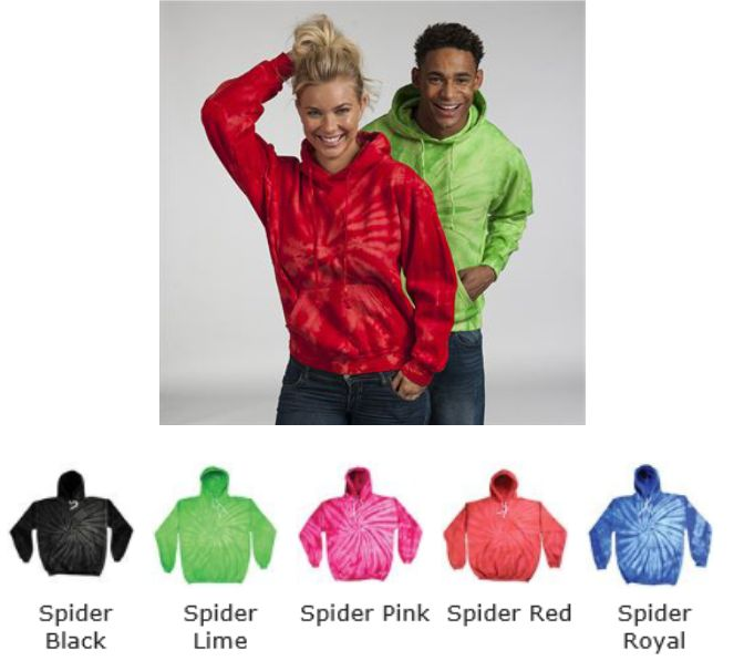 Colourtone TD030M Tonal Spider Hoodie