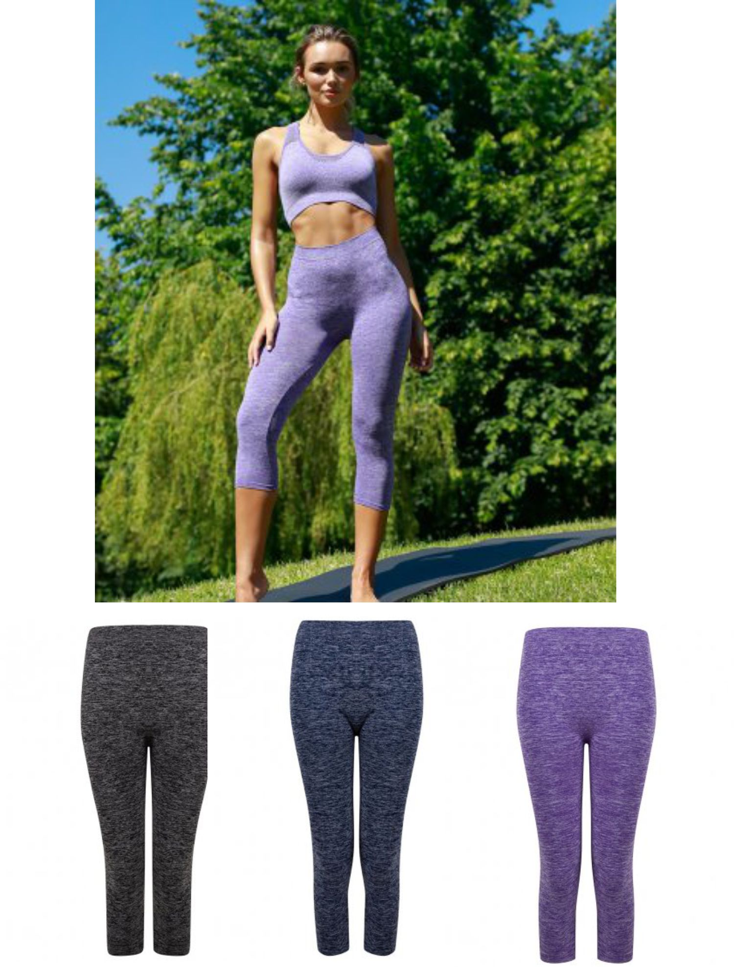 TL306 Tombo Ladies Seamless Cropped Leggings