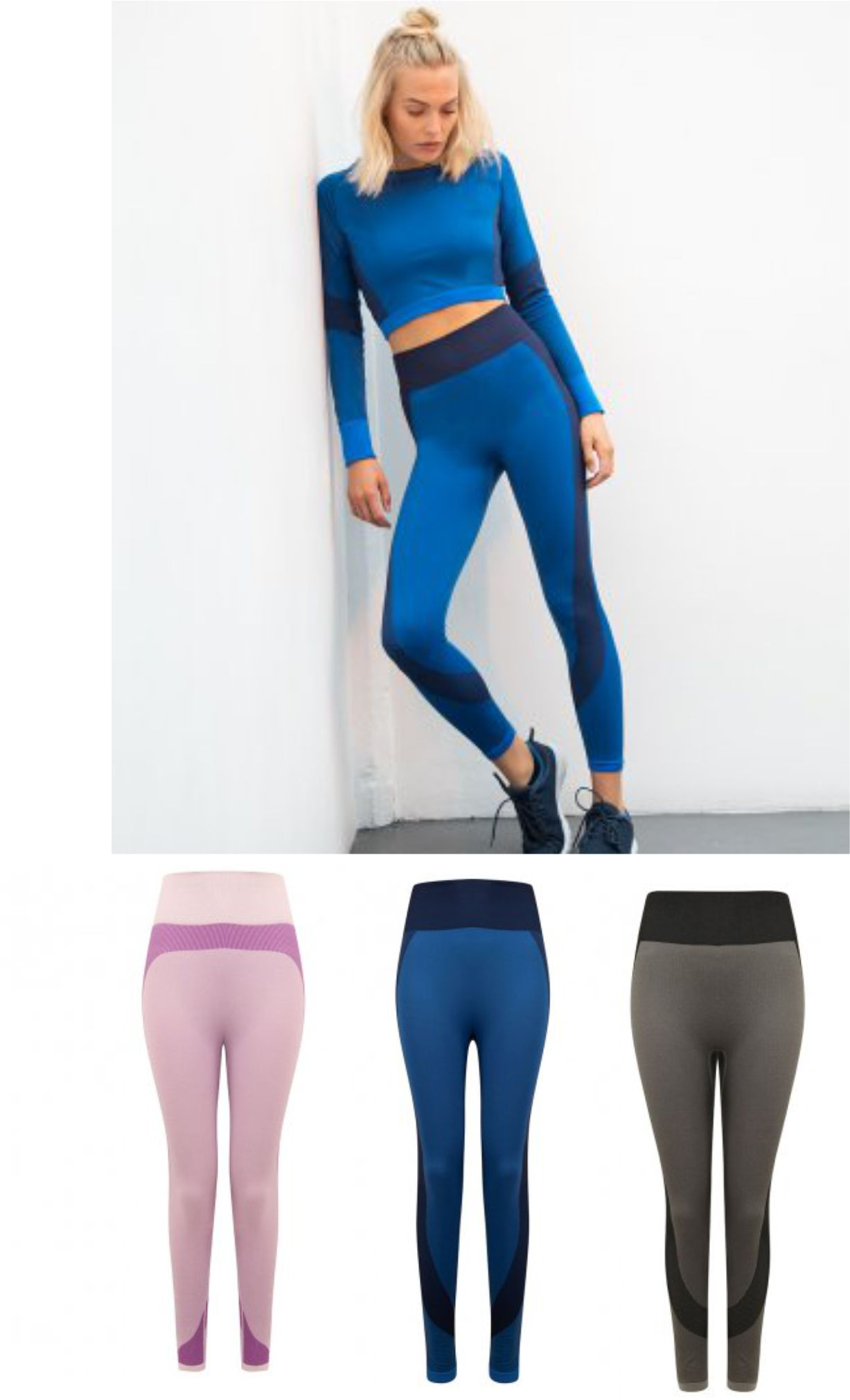 TL350 Ladies Seamless Panelled Leggings