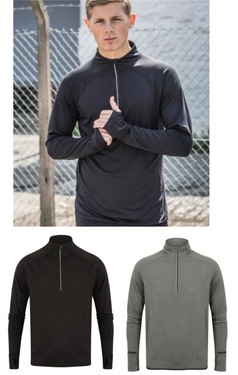 TL562 Tombo Long Sleeve Zip Neck Performance Top
