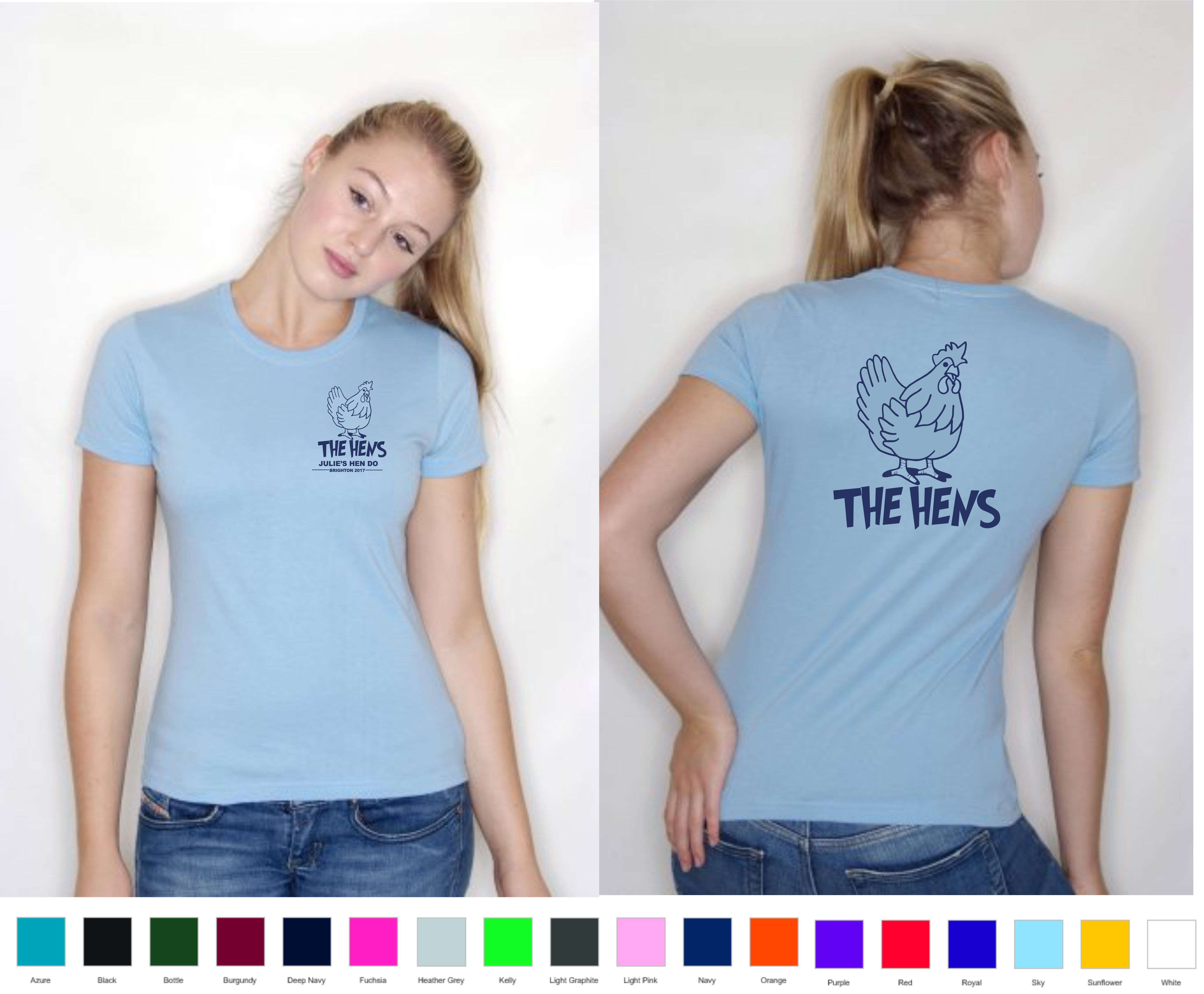 Hen Do Printed Tee Shirt
