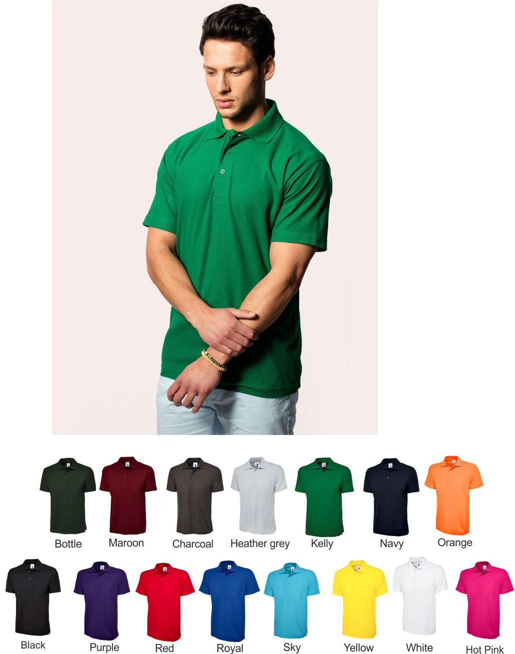 Uneek UC101 Poly/cotton Classic Polo
