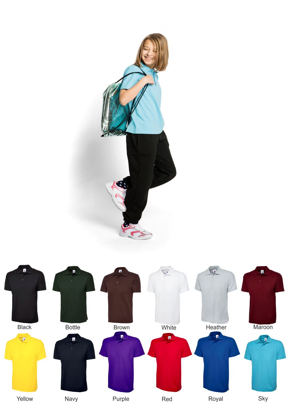 Uneek UC103 Childs Pique polo