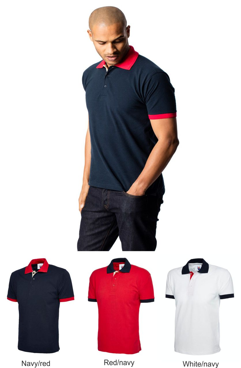 Uneek UC107 Contrast polo
