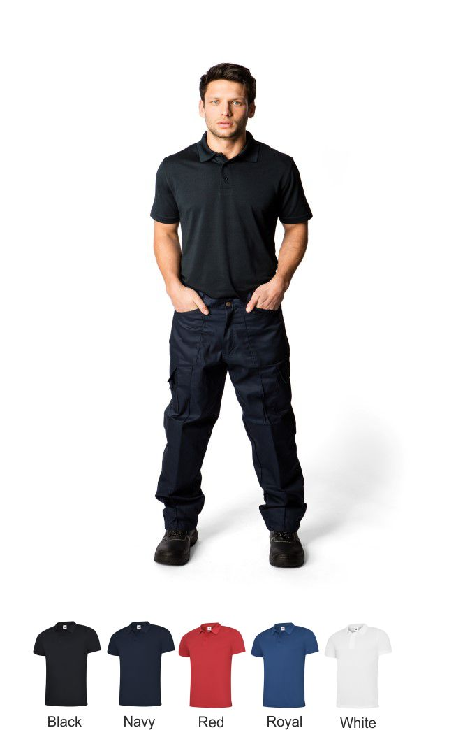 Uneek UC127 Men's Super Cool Workwear Polo Shirt
