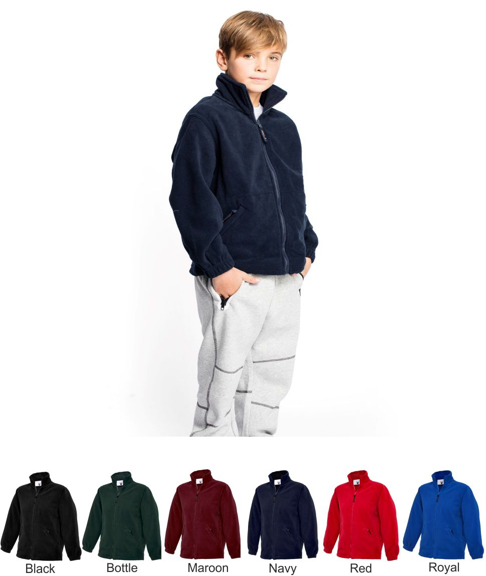 Uneek UC603 Childrens Full Zip Fleece Jacket