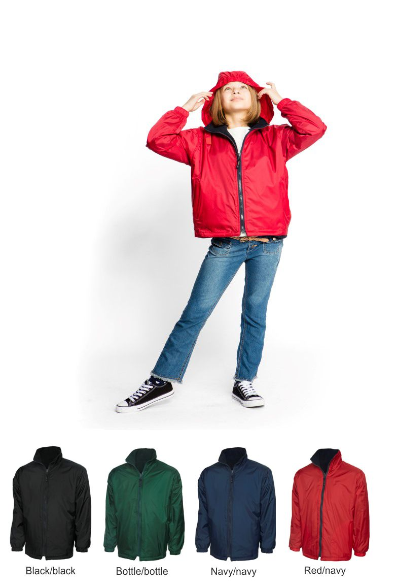 Uneek UC606 Childrens premium reversible fleece jacket